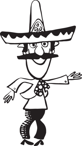 170CA - Cartoon Mexican man