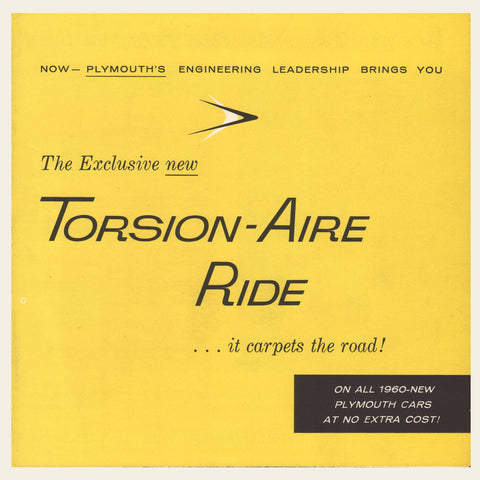 1960 Plymouth Torsion-Aire Ride Brochure