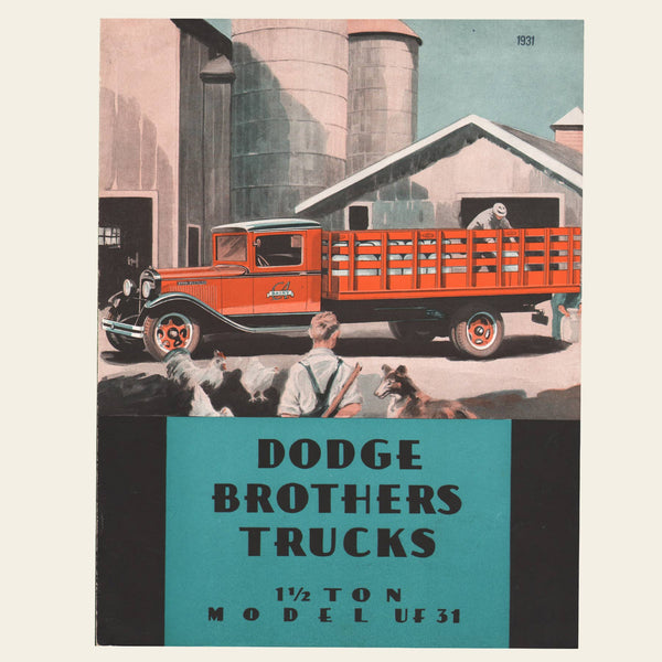 1931 Dodge Truck UF31 Sales Brochure