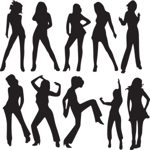 345SA - Silhouettes of women