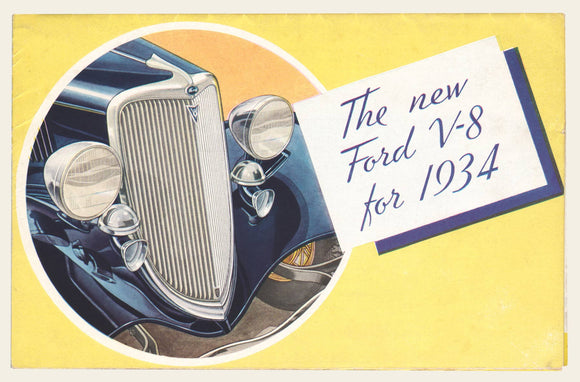 1934 Ford V-8 Sales Brochure