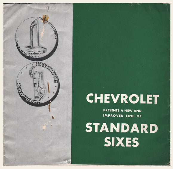 1934 Chevrolet Standard Sixes Brochure