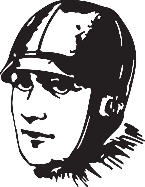 38RA - sports man with helmet