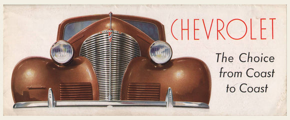 1939 Chevrolet Dealer Brochure