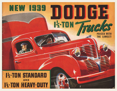 1939 Dodge Commercial Trucks Brochure