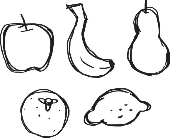 420GA - Fruit sketches