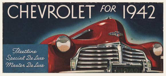 1942 Chevrolet Sales Brochrue