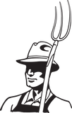 467RA - Farmer with hat and pitchfork