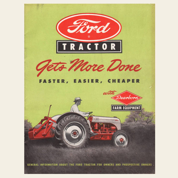 1948 Ford Dearborn Tractor Sales Brochure