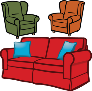 523 furniture (couch and chair)