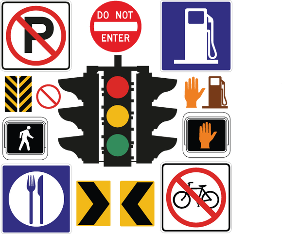 530 street signs and icons