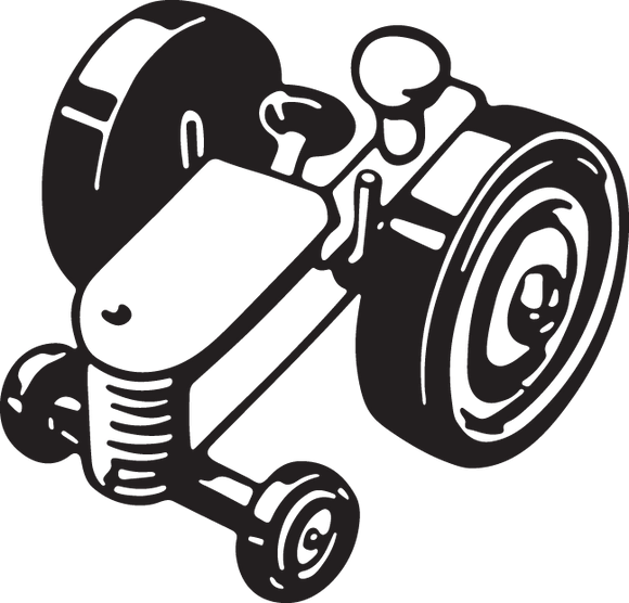 542 tractor (abstract illustration of a farm tractor)