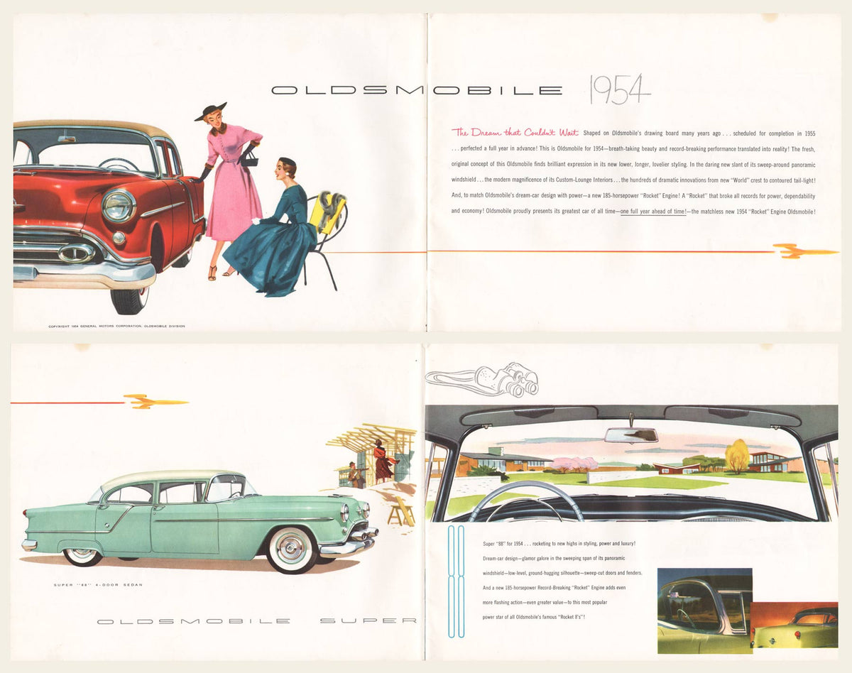 1954 oldsmobile sales brochure  u2013 oldcuts