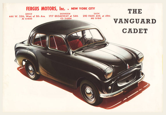 1954 Vanguard Cadet Sales Brochure