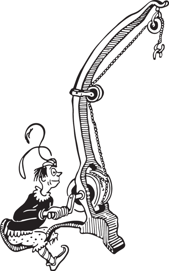 559 Dr. Seuss illustration (person with crane)