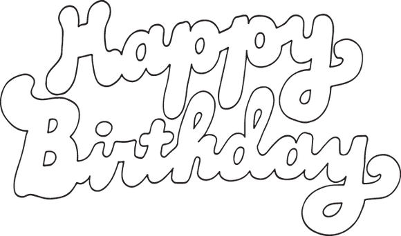 565 happy birthday (outlined text)