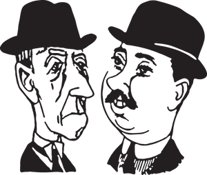 588 two men with hats