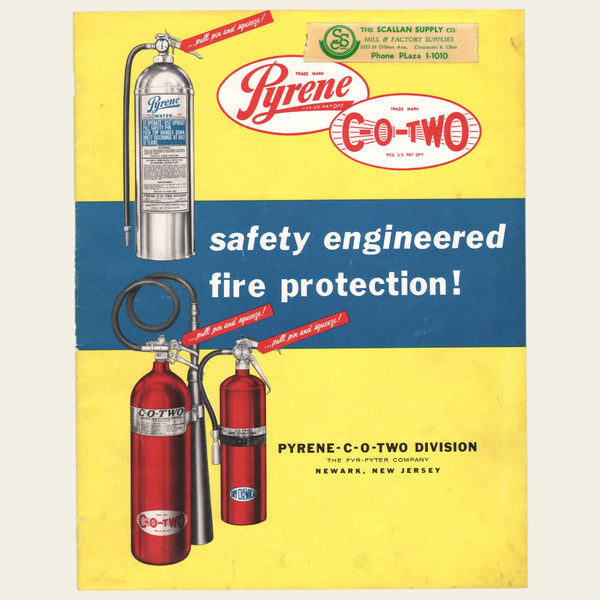 1958 Pyrene C-O-Two Fire Extinguisher Brochure