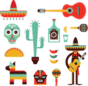 630 decorative mexican icons