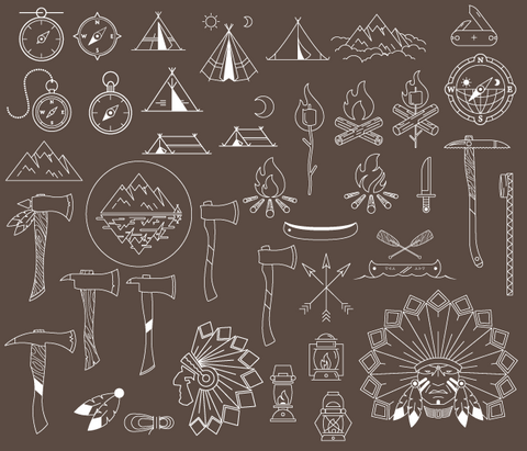 635 camping images (Native American) icons