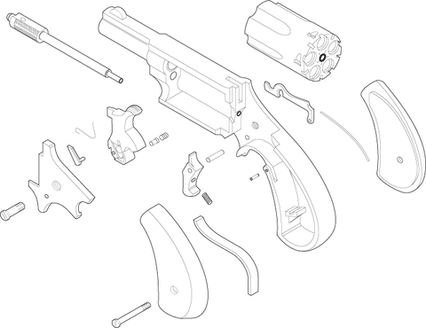 637 gun parts (handgun exploded view)