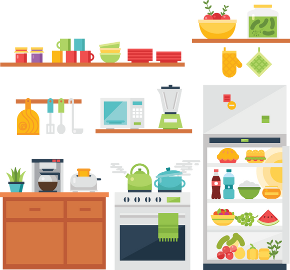 639 kitchen images (food)