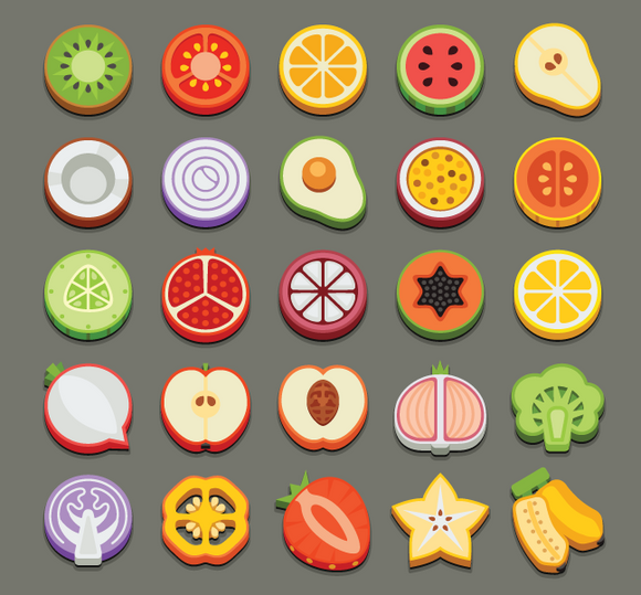 655 produce slice icons