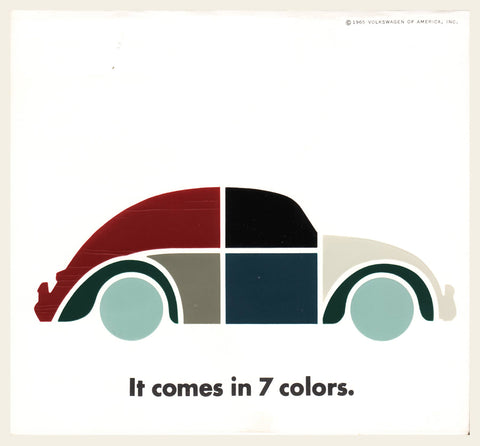 "1965 Volkswagen ""Colors"" Brochure"