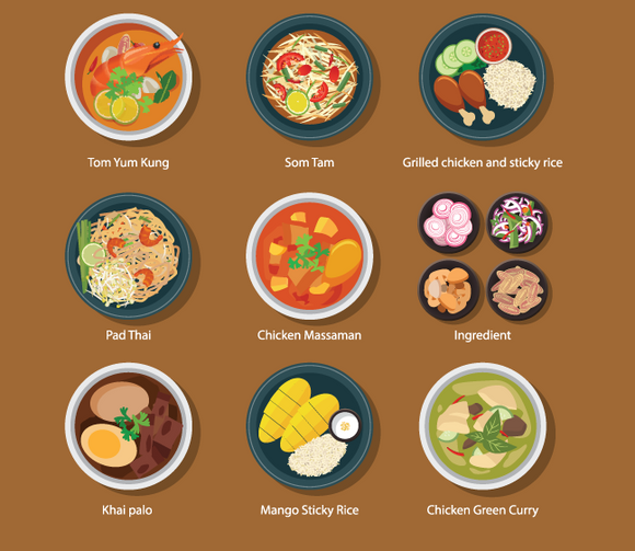 670 Plated Food Icons