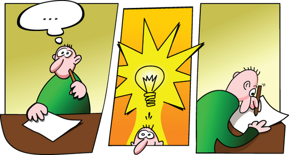Man with an Idea cartoon