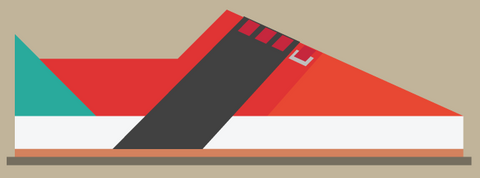 707 Graphic Illustration of a sneaker