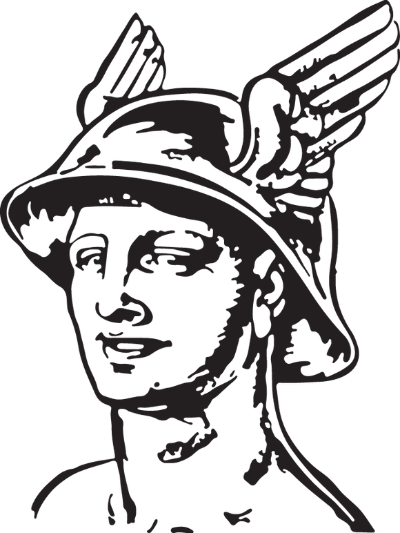 70GA - Mythical man with winged hat