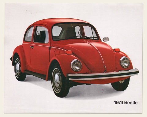 Two 1974 Volkswagen Beetle Sale Sheets