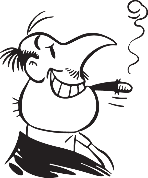7CA - Cartoon man with cigar