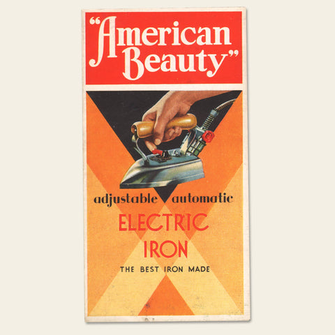 "1930s ""American Beauty"" Electric Iron Brochure"