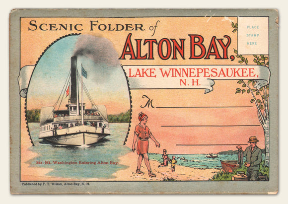 1930s Alton Bay fold-out postcard