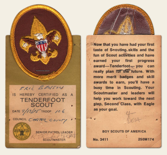 Two Boy Scout Badges from 1975