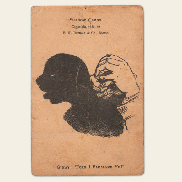 1800s Victorian Shadow Card