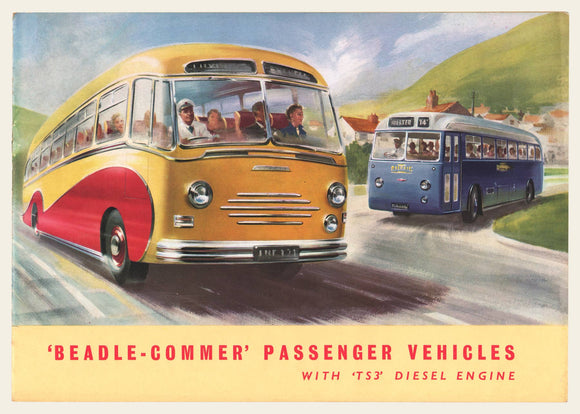 1955-1956 Beadle Commer Bus Sales Brochure