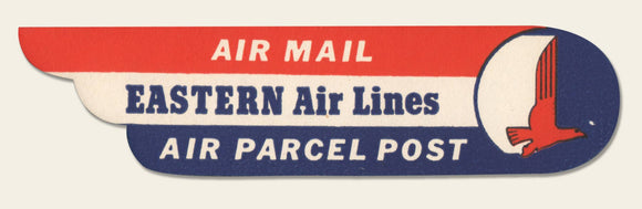 1950s Eastern Air Lines label