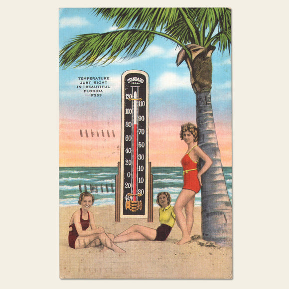 (2) 1940s Florida Postcards