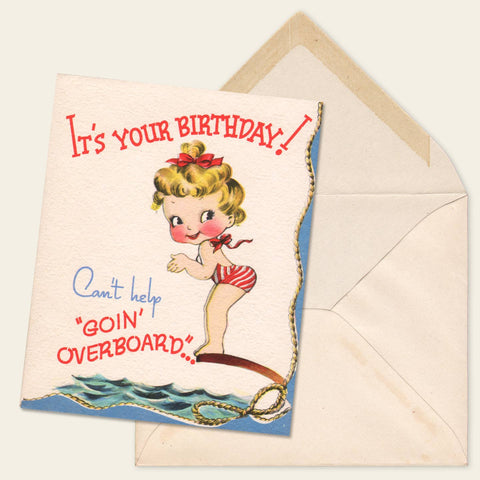 (5) Unused Greeting Cards from the 1940s