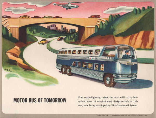 "1945 Greyhound Corporation ""Travel Ways"" teaching aid"