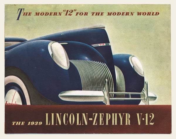 1939 Lincoln Zepyr V12 Brochure