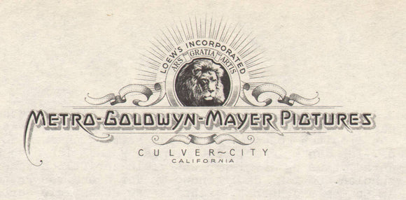 1941 and 1942 Letters on MGM Letterhead