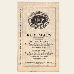 "(2) 1932 Scarborough Automobile ""Key Maps"""