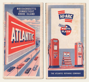 1940s Atlantic Oil Road Map