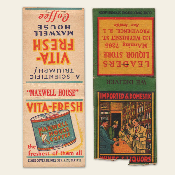 (8) 1930s / 1940s Matchbook Covers (B)