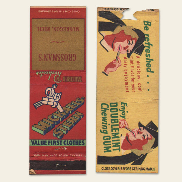 (8) 1930s / 1940s Matchbook Covers (E)