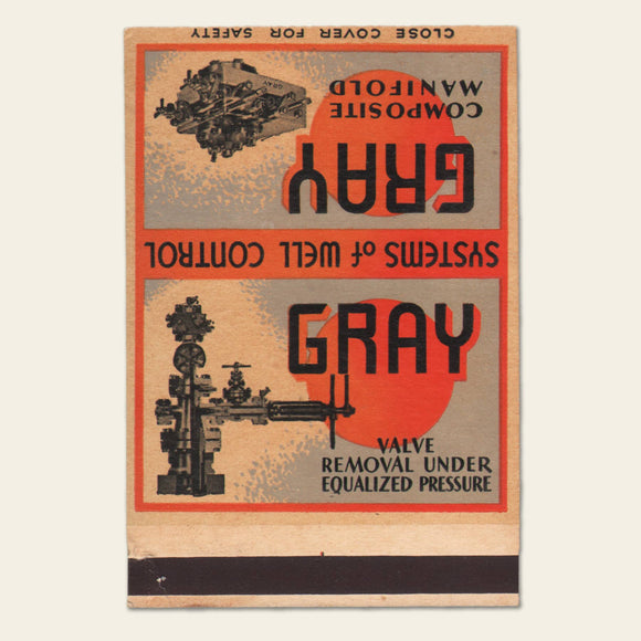1940s(?) GRAY Systems of Well Control Matchbook